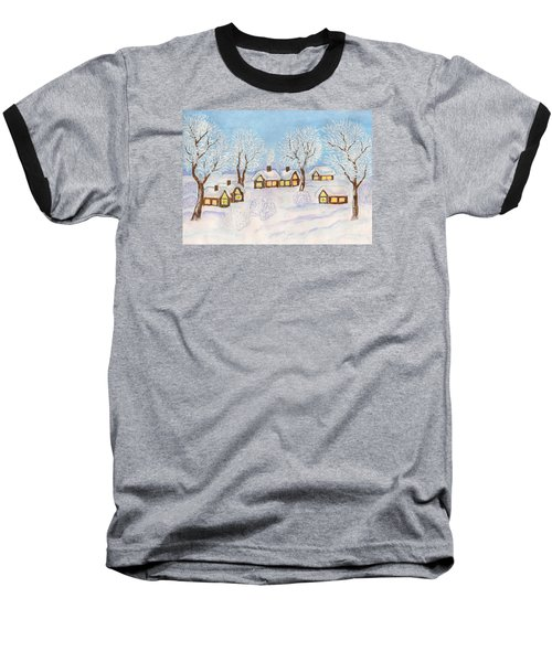 Winter Landscape, Painting Baseball T-Shirt