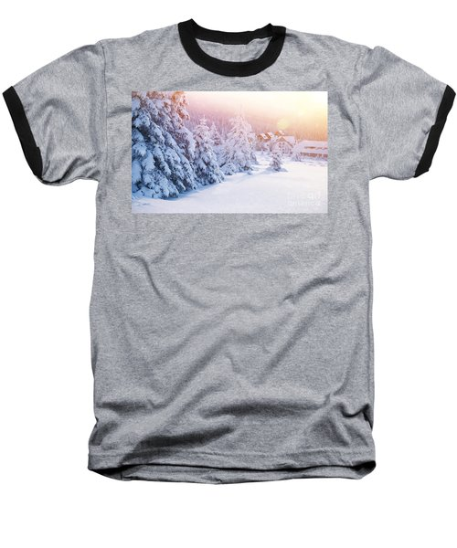 Winter Resort Baseball T-Shirt