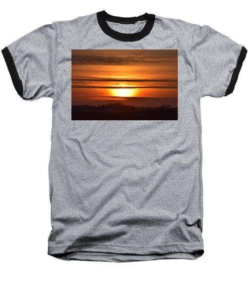 Winter Sunset Baseball T-Shirt by Dacia Doroff