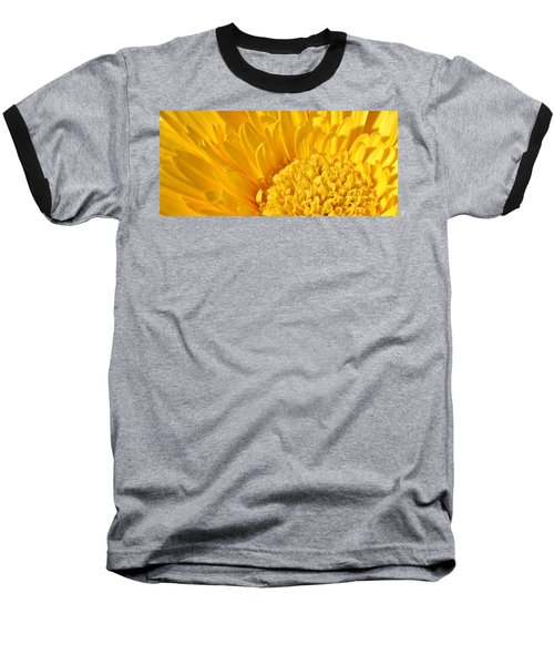 yellow Flower Baseball T-Shirt by Werner Lehmann