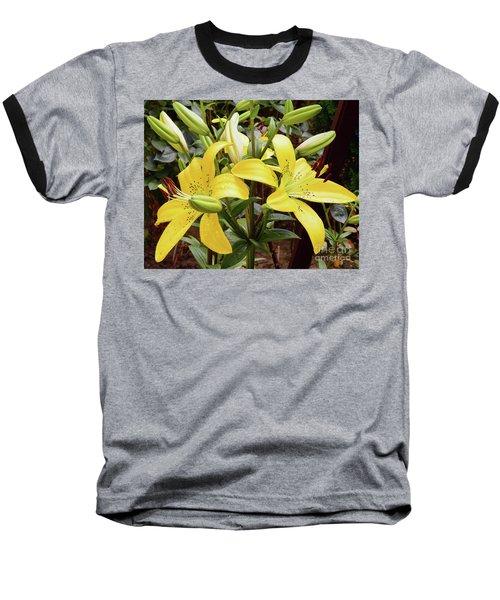 Baseball T-Shirt featuring the photograph Yellow Lily by Elvira Ladocki