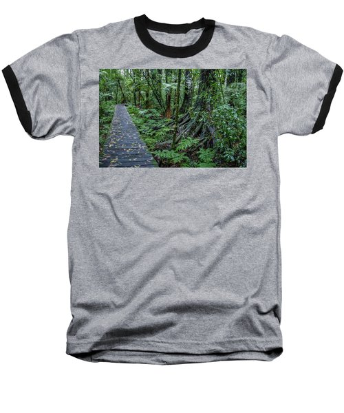 Baseball T-Shirt featuring the photograph Forest Boardwalk by Les Cunliffe