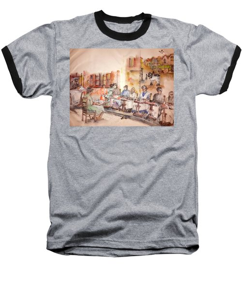 Baseball T-Shirt featuring the painting Of Clogs And Windmills Album by Debbi Saccomanno Chan
