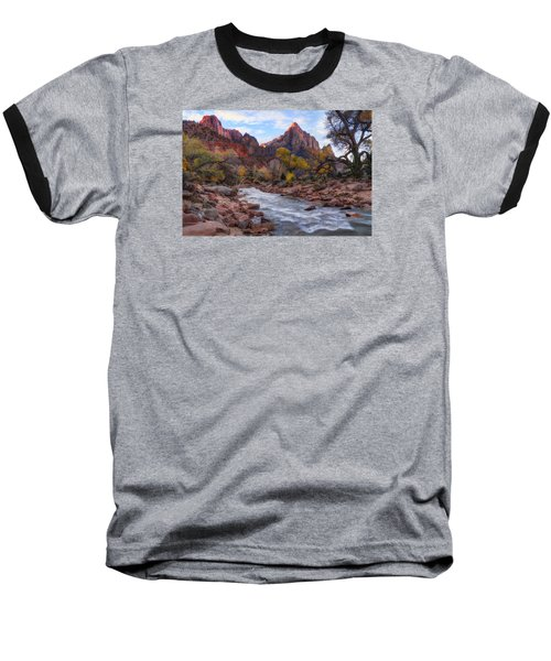 Zion National Park Baseball T-Shirt by Utah Images