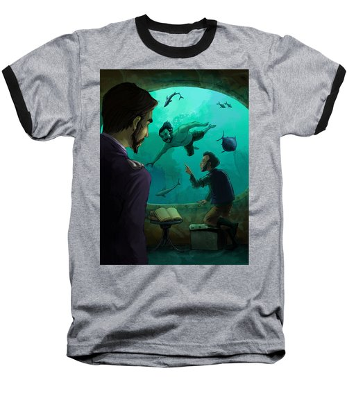 20000 Leagues Under The Sea Baseball T-Shirt