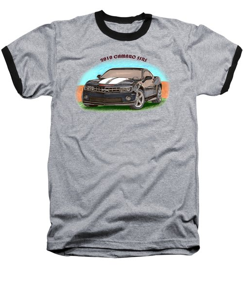 Camaro Ss  Rs Baseball T-Shirt by Jack Pumphrey