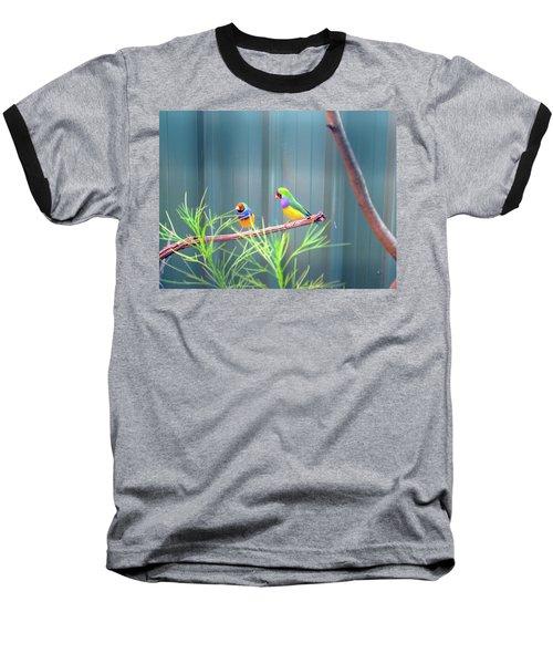 Aussie Rainbow Lovebirds Baseball T-Shirt