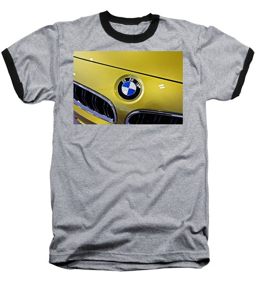 Baseball T-Shirt featuring the photograph 2015 Bmw M4 Hood by Aaron Berg