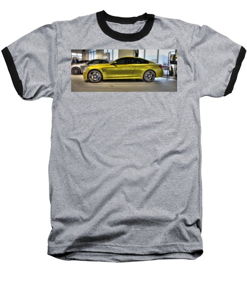 Baseball T-Shirt featuring the photograph 2015 Bmw M4 by Aaron Berg
