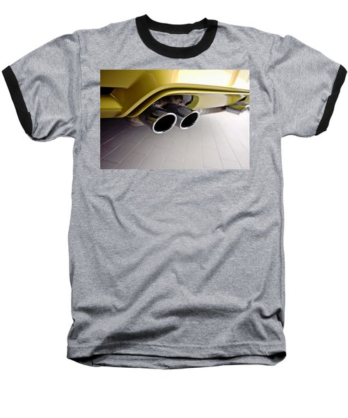 Baseball T-Shirt featuring the photograph 2015 Bmw M4 Exhaust by Aaron Berg
