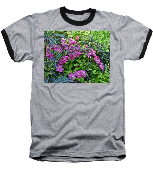 2015 Summer At The Garden Beautiful Clematis Baseball T-Shirt