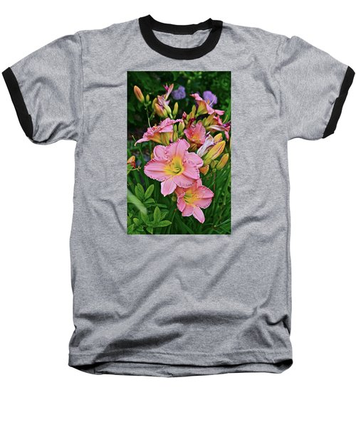 2015 Summer At The Garden Daylilies 1 Baseball T-Shirt