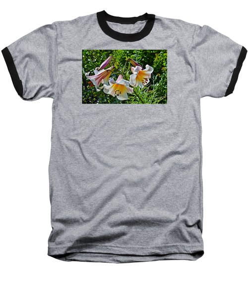 2015 Summer At The Garden Lilies In The Rose Garden 1 Baseball T-Shirt