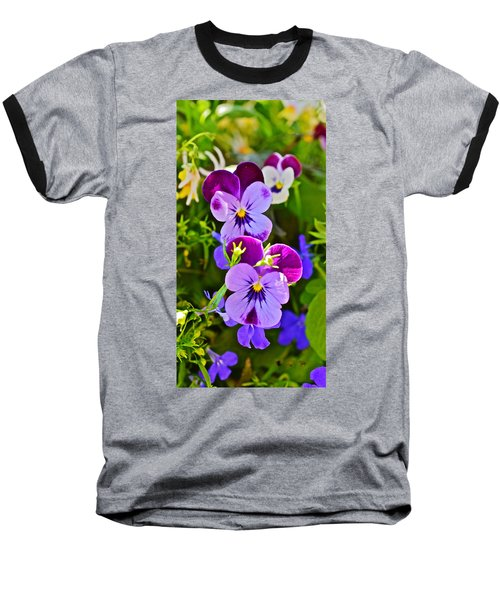 2015 Summer's Eve At The Garden Pansy Totem Baseball T-Shirt