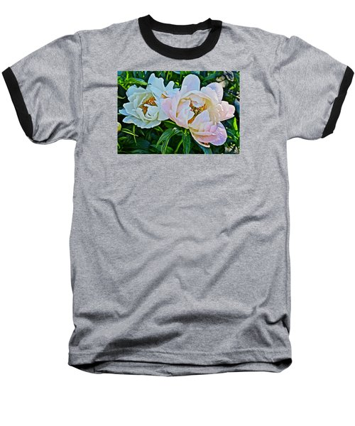 2015 Summer's Eve At The Garden White Peony Duo Baseball T-Shirt