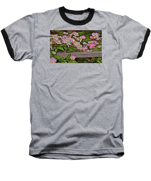 2015 Summer's Eve Front Yard Peonies 1 Baseball T-Shirt