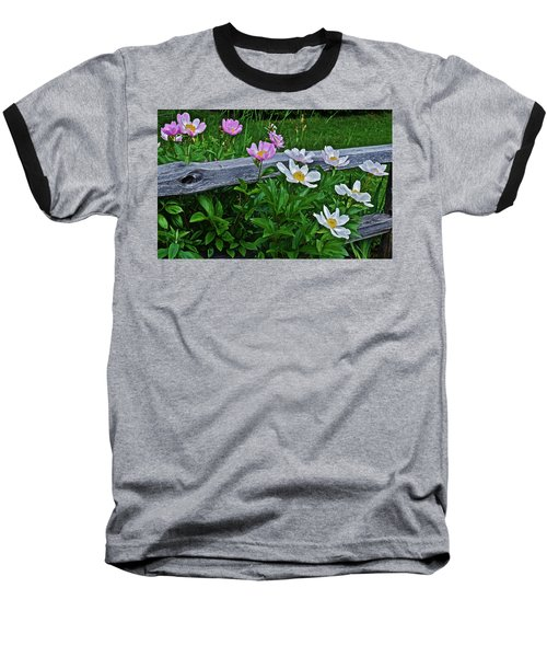 2015 Summer's Eve Neighborhood Garden Front Yard Peonies 2 Baseball T-Shirt