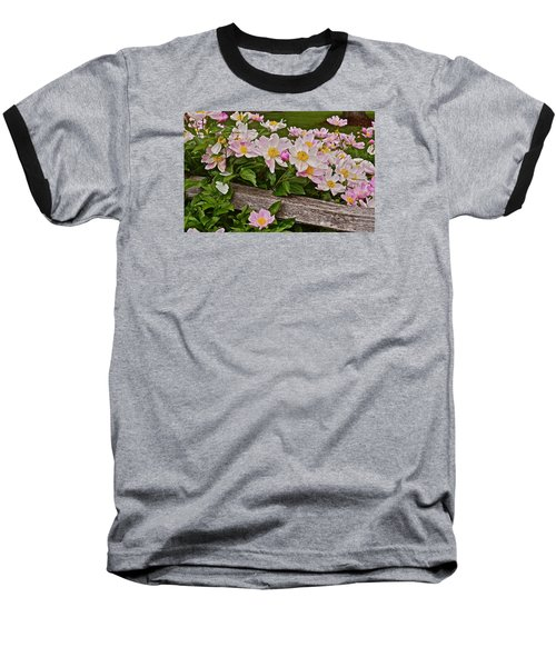 2015 Summer's Eve Neighborhood Garden Front Yard Peonies 3 Baseball T-Shirt