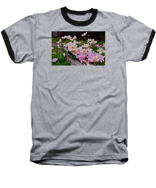 2015 Summer's Eve Neighborhood Garden Front Yard Peonies 4 Baseball T-Shirt