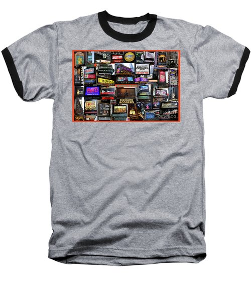 Baseball T-Shirt featuring the photograph 2016 Broadway Fall Collage by Steven Spak