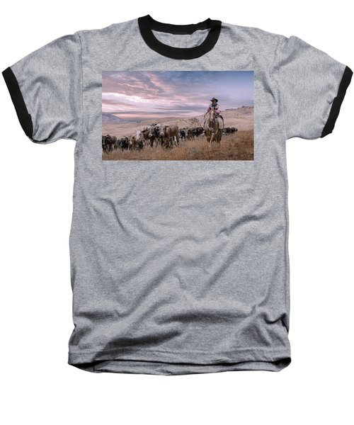 2016 Reno Cattle Drive Baseball T-Shirt by Rick Mosher