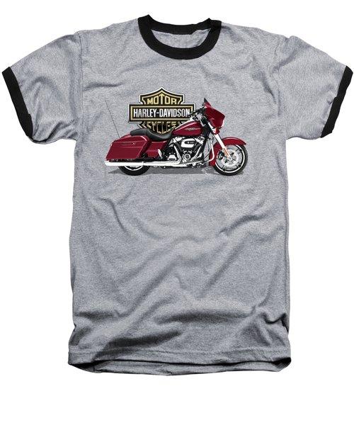 2017 Harley-davidson Street Glide Special Motorcycle With 3d Badge Over Vintage Background  Baseball T-Shirt