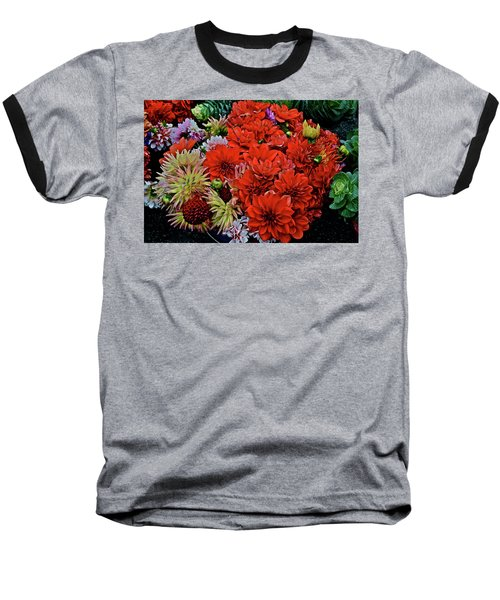 2017 Mid October Monona Farmers' Market Buckets Of Blossoms 1 Baseball T-Shirt