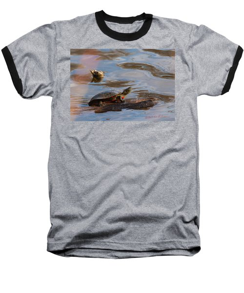 2017 Painted Turtle Baseball T-Shirt by Edward Peterson