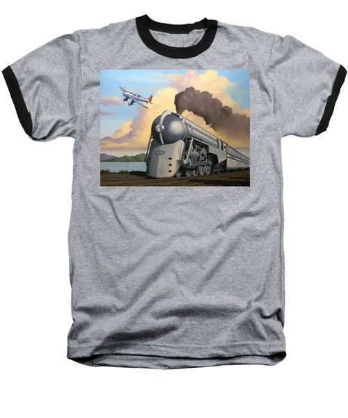 20th Century Limited And Plane Baseball T-Shirt