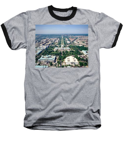 Aerial View Of Buildings In A City Baseball T-Shirt
