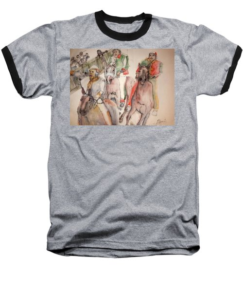 Baseball T-Shirt featuring the painting Il Palio Contrada  Lupa Album by Debbi Saccomanno Chan