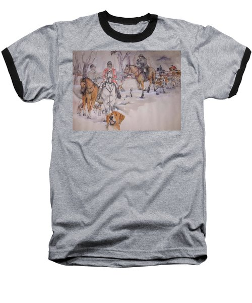 Baseball T-Shirt featuring the painting Talley Ho Album  by Debbi Saccomanno Chan