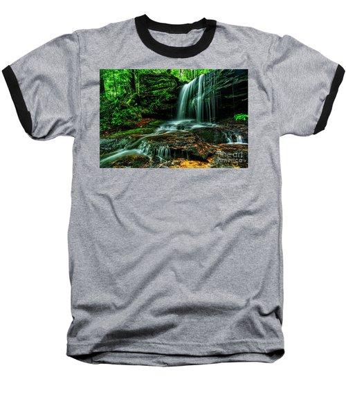 West Virginia Waterfall Baseball T-Shirt