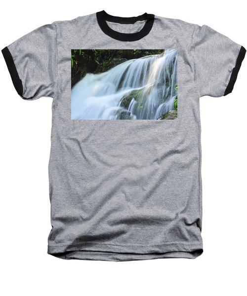 Waterfall Scenery Baseball T-Shirt