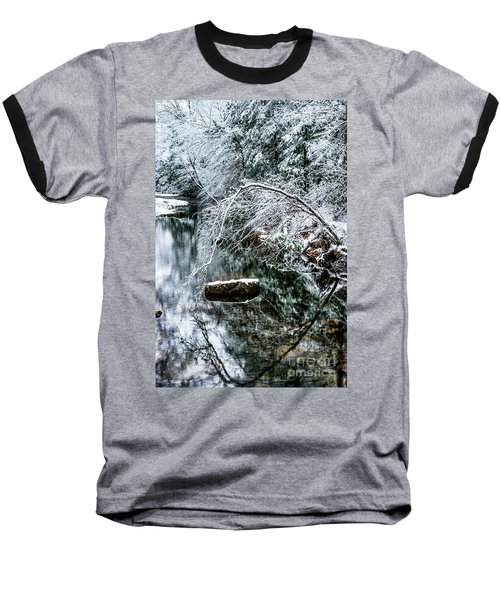 Baseball T-Shirt featuring the photograph Winter Along Cranberry River by Thomas R Fletcher