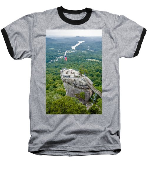 Lake Lure And Chimney Rock Landscapes Baseball T-Shirt