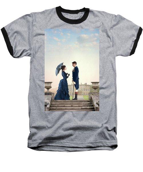Victorian Couple  Baseball T-Shirt by Lee Avison
