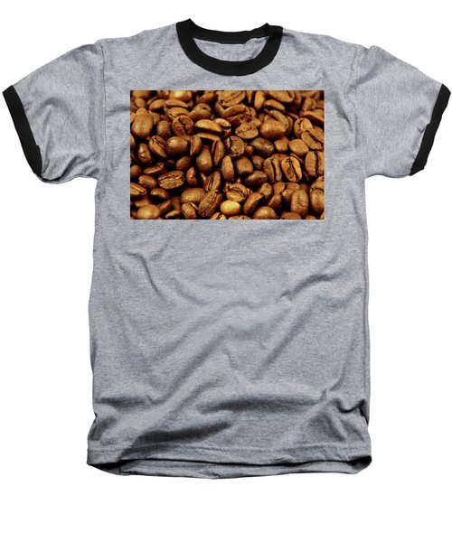 Baseball T-Shirt featuring the photograph Coffee Beans by Les Cunliffe