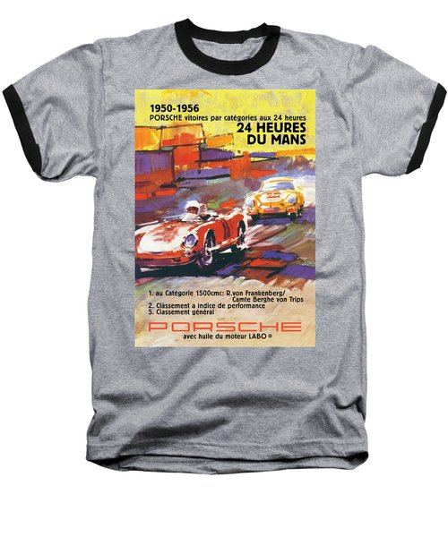 24 Hours Of Le Mans Baseball T-Shirt