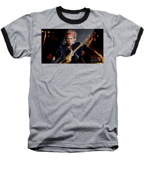 Keith Richards Collection Baseball T-Shirt by Marvin Blaine