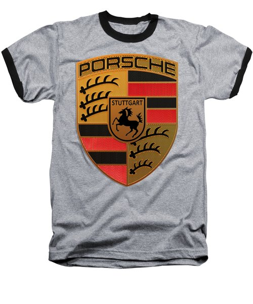 Porsche Label Baseball T-Shirt