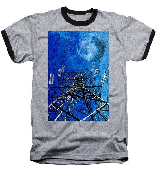 Electric Power Transmission... Baseball T-Shirt by Werner Lehmann