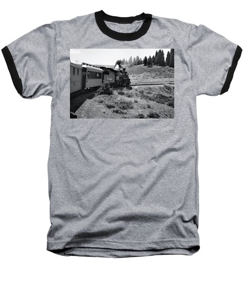 Baseball T-Shirt featuring the photograph 25 Miles Per Hour by Ron Cline