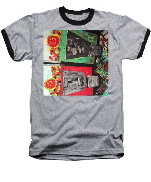 Baseball T-Shirt featuring the painting 25cts by Olivier Calas