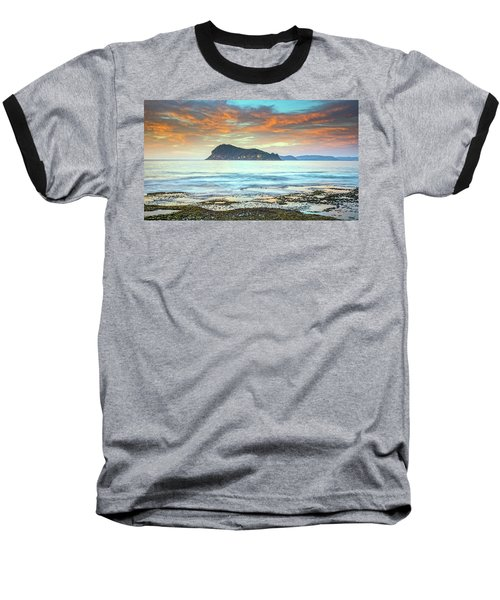 Sunrise Seascape With Clouds Baseball T-Shirt