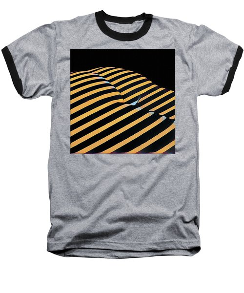 2612s-ak Abstract Rear Butt Bum Thighs Zebra Striped Woman In Composition Style Baseball T-Shirt