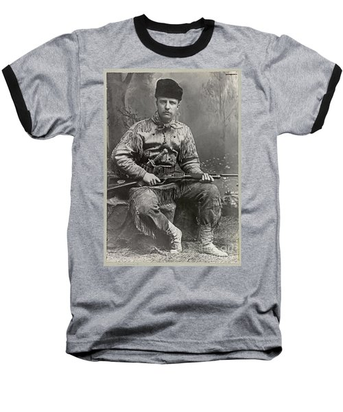 26th United States President Baseball T-Shirt by John Stephens