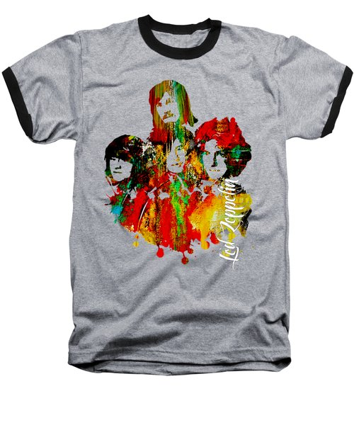Led Zeppelin Collection Baseball T-Shirt by Marvin Blaine