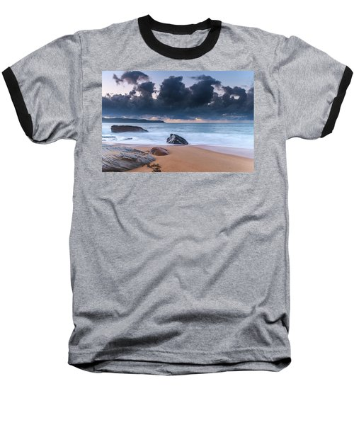 Sunrise Seascape With Clouds Baseball T-Shirt