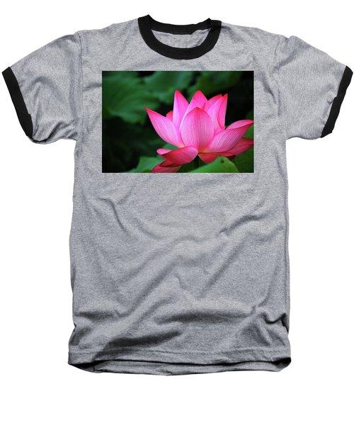 Blossoming Lotus Flower Closeup Baseball T-Shirt